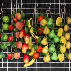 Factory outlet simulation leafy false fruit/cane hemp rope chain organic hotel decoration to the hotel the supermarket