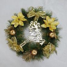 30cm pine needle christmas flower wreaths fashion wholesale festival ornament