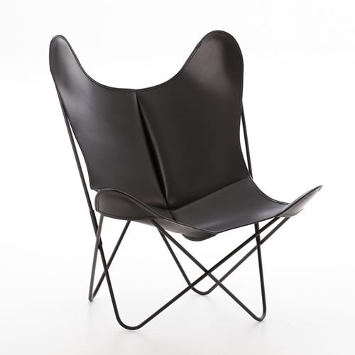 ... China Furniture Factory Metal Iron Black Coating Finished Leather  Butterfly Chair For Garden Chairs ...