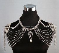 Luxurious Multi Layers Rhinestones Shoulder Chains
