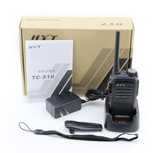 Handheld walkie talkie HYT TC-510 5W 400-470mhz Interphone Dual Band UHF/VHF Portable Two Way Radio