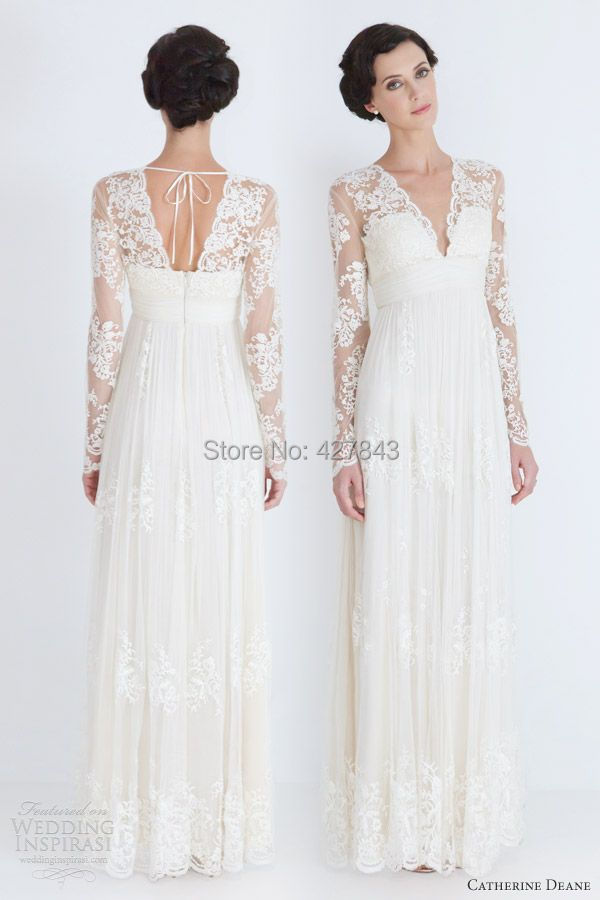 Simple Hippie Wedding Dresses Bohemian Wedding Dress