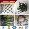 Decorative black color hdpe extruded plastic mesh/diamond flat net