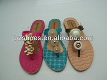 2014 High Quality Flowers slipper air blowing soles,China New Design Cute Lady Air Blowing PCU Women Slipper