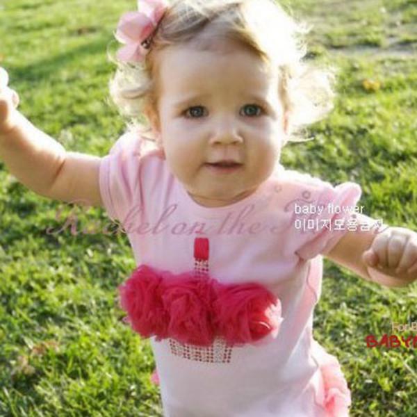 милые дети baby девочки розовый комбинезон платье принцессы цельный комбинезон комбинезон 0-3г бесплатно & drop Доставка
