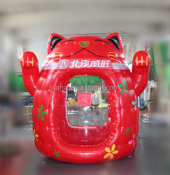 2015 Hot-selling cheap custom red cat inflatable money booth