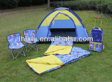 Pirate kids camping set(1 tent+2 chairs+2 sleeping bag+ 2 torch+ 1 Trolley)