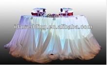 IDA white chiffon table skirt, decorative table skirt, beautiful table skirt (IDATS01)
