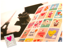 Lovely stamp decorative stickers for notebook, envelope