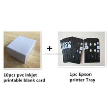 Identificación de PVC de inyección de tinta tarjeta bandeja de la impresora de plástico para Epson R270 R280 R285 T60 L801 L80