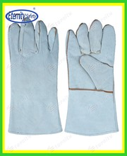 """Detailed specification Full sock lined 14""""cow leather welding gloves contact for mutual win"""