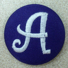 Letter embroidery cover fabric button for accessoies