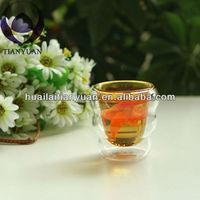 Colored Borosilicate Double Wall Glass