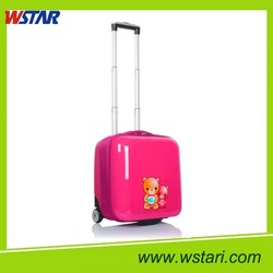 Small Children Suitcase Set Cute Cartoon ABS Kids Hard Shell Luggage