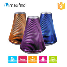 New Fashion Flower Vase Shape Classic Portable Wireless Bluetooth Speaker with colorful led bottom lights