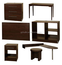 cherry wooden hotel furniture night stand, bed side table in bedroom set