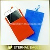 Hot selling microfiber phone pouch,hot sale microfiber cell phone pouch with custom,mobilephone bag