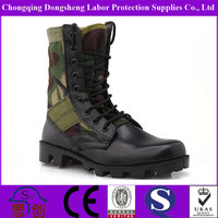 Cheap Black Full leather Military Army liberty Jungle Boots