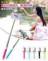 wireless bluetooth with remote wired monopod pen size selfie stick