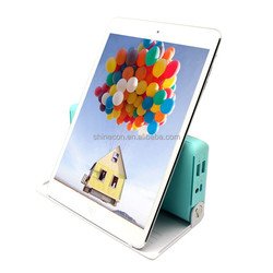2015 new design hot big capacity universal portable power bank 20800mah with holder funtion for ipad