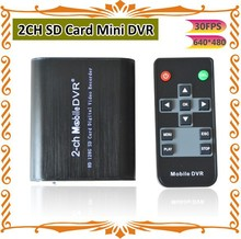 2-CH SD CARD MOBILE DVR supports external trigger recording / photo and other recording / photo mode
