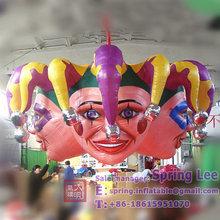 2.1m hanging inflatable Halloween head/Halloween ghost