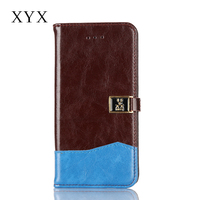 High quality pu leather made card slot mobile phone flip wallet case for iphone 6 6s