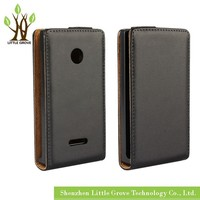 Wholesale For Nokia Lumia 435 532 Genuine Leather Flip Magnetic Case Cover Free Shipping