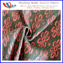 China shaoxing factory new product 100% polyester knit bonded lace fabric use for lady's garment fabric