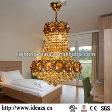 Dormitorio de iluminación colgante, araña de prismas de cristal