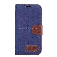 Wholesale s6 edge phone case denim fabric cell case bulk cover for galaxy s6 edge