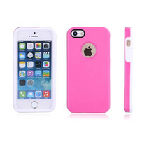 Silicone factory price shock proof and dust proof fashion double color design silicone phone cover