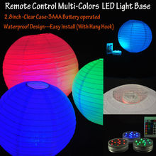 Frozen Party Supplies Wholesale Submersible Battery LED Paper Lantern Light With Remote Controller