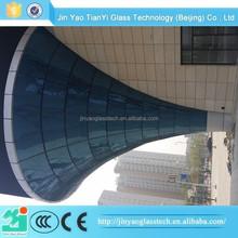 factory price excellent safe curved glass desk