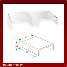 """clear acrylic riser for shoes,jewelry chain,hot bending acrylic3.54""""x3.9"""""""