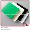 de plástico rígido láminas de pvc negro