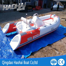 CE 390cm deep V fiberglass inflatable trawler yacht for sale