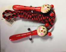 china wholesale wooden fashion animal handle physical exercise skipping rope