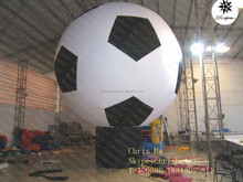 Factory price cheap big Inflatable hot air balloon shaped football balloon for sale