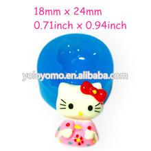 PYL156 Hello Kitty Flexible Silicone Mold Mini Cupcake Topper Polymer Clay Charms Mini Resin Mold (Clay Fimo Resin Wax Gum)