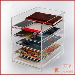 Plastic book/magazine/paper organizer/holder