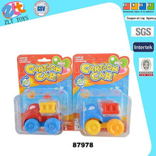 Candy dispenser toy cartoon pull back car