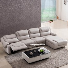 Best Modern corner Leather Sofa Bed ,Reclinable sectional sofa set price