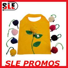 Wholesale Rose Shopping Bag Flower Shaped Foldable Shopping Bag