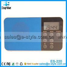 Nuevo 2014 china caliente vender boya de radio con reloj, de alarma del reloj