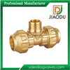 Design classical pe pipe fitting brass thread male tee