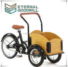2015 hot sale fashion bicycle single speed 3 wheels cargo kids bike/cargobike/tricycle cargo bike/bakfiets UB9035 for children