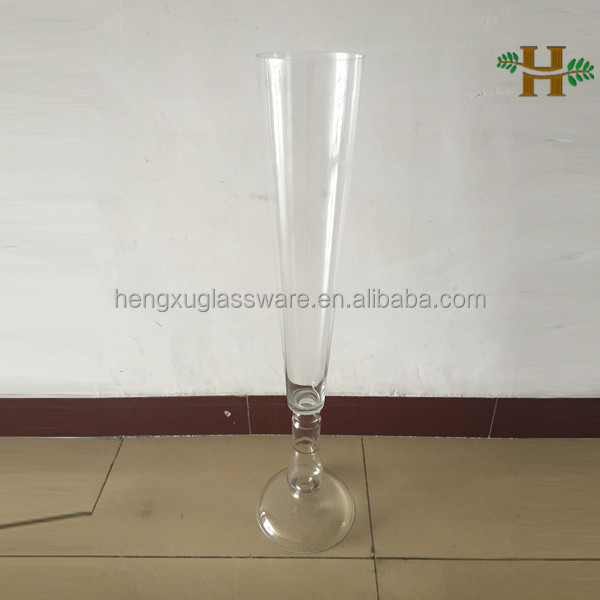 Wholesale wedding glass vase centerpieces clear tall