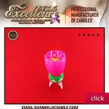 Auto music birthday candle/ lotus flower cake candle
