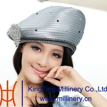 White Hats For Church-High Quality With Diamond Decoration
